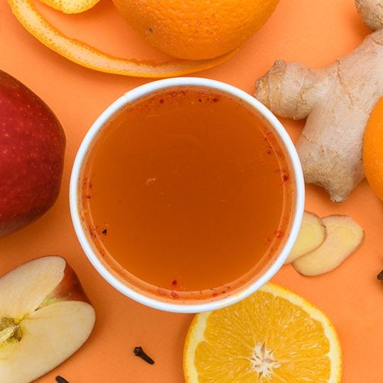 Ощути осень: Пунш апельсин–яблоко с пряностями – кофейный