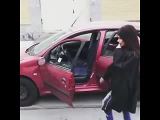 Getting out of a car while moving downhill what could go wrong