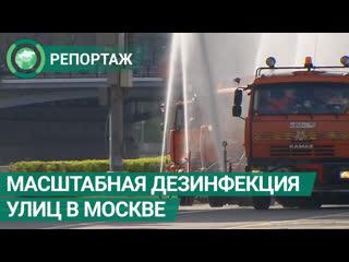 Масштабную дезинфекцию провели в Москве в первый день мая. ФАН-ТВ