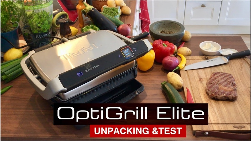 Tefal OptiGrill Elite GC750D Unpacking und erster Test