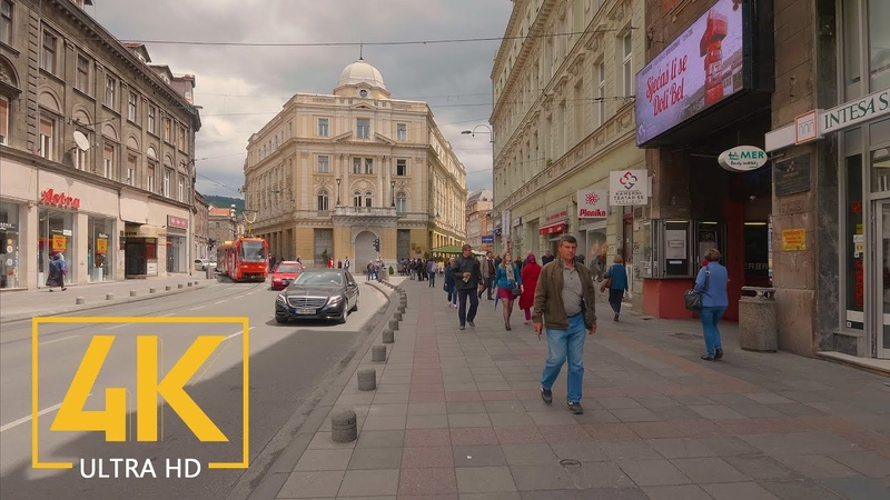 Virtual Walking Tour in 4K 60fps - SARAJEVO - the capital of Bosnia and Herzegovina