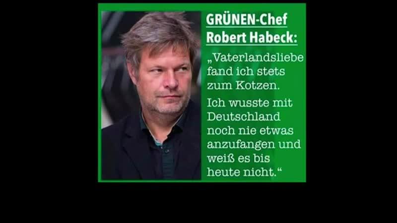 Rober Habeck Vaterlandsliebe fand ich stets zum