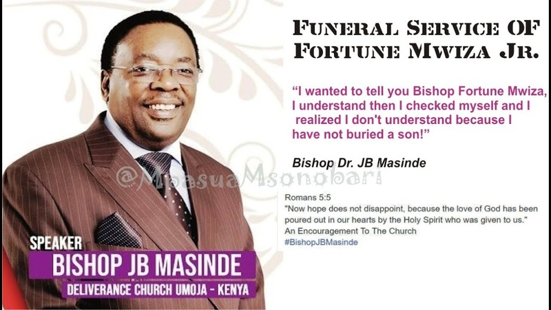 Bishop JB Masinde Powerful Sermon |Deliverance Church Zambia| Funeral Service for Fortune Mwiza Jr.
