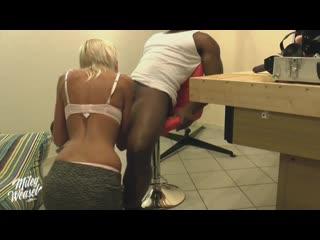 Hot wife first big black cock (amateur, bbc, blowjob, sexwife, hardcore, cum, swallow, doggy, домашнее, минет, порно, шлюха)