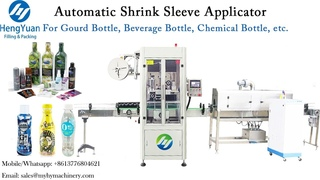 Automatic Shrink Sleeve Label Applicator for Gourd Shaped Bottle Fully Wrapped Labeling Machine