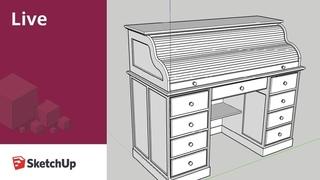 SketchUp Live Modeling Furniture