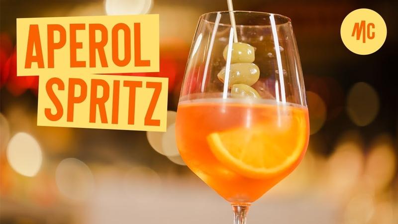 Как приготовить Aperol Spritz Апероль Шприц . Рецепт коктейля от Marco Cervetti.