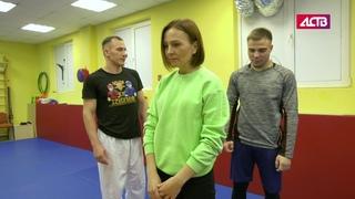 Боец-рукопашник показал сахалинкам, как защищать себя от насилия