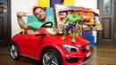 Araba oyunları Nerf almak için araba yıkama servisi açtık Hulk ve Tobot arabaları
