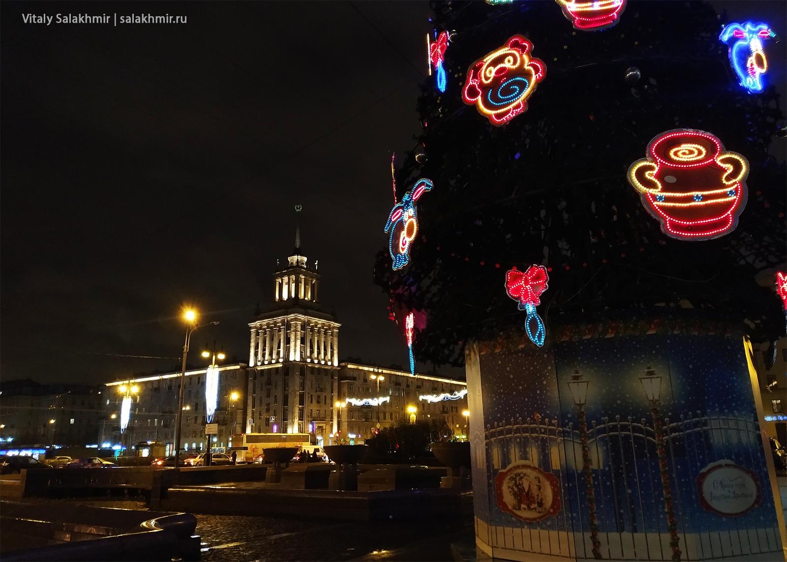 Елка в Санкт-Петербурге, Московский проспект 2019