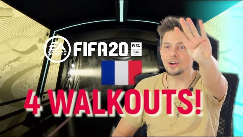 4 WALKOUT ПОДРЯД НАГРАДЫ ЗА DIVISION RIVALS 1 РАНГ 1 ДИВИЗИОН И WEEKEND LIGUE ЗОЛОТО 1 FIFA 20