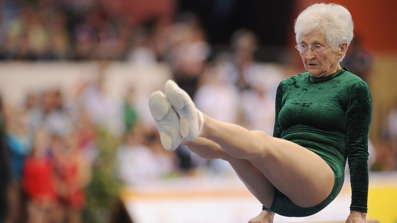 Amazing 91 year old gymnast Johanna Quaas
