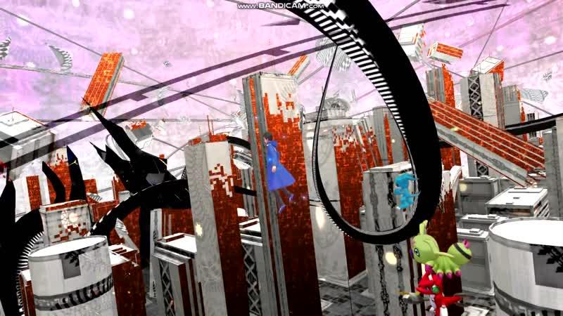 Digimon Story Cyber Sleuth - Hackers Memory С E Прохождение последней 18-ой главы с Дигимонами уровня ребенка (из Аниме)1 часть.