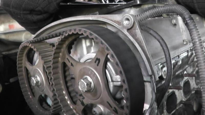 Выставляем метки ГРМ на двигателе 4G63 Mitsubishi Cedia