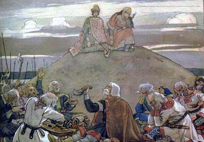 Тризна на могиле Вещего Олега