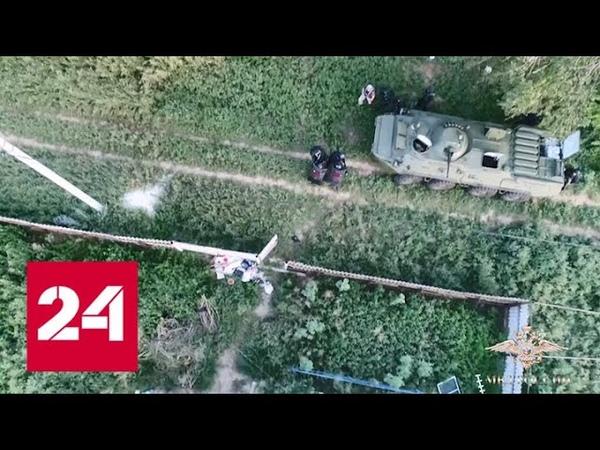 Вооруженных грабителей задержали с помощью бронетранспортера Видео Россия 24