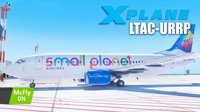 X Plane 11 IXEG 737 300 Жесткая посадка в Платове