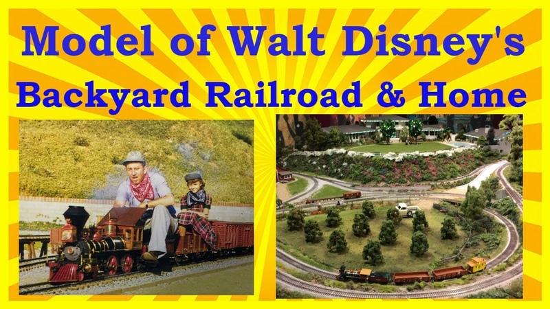 Model of Walt Disney's Backyard Railroad Home Train Layout The Lilly Belle
