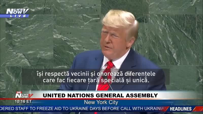 Trump Viitorul nu le aparține globaliștilor ci patrioților națiunilor suverane și independente