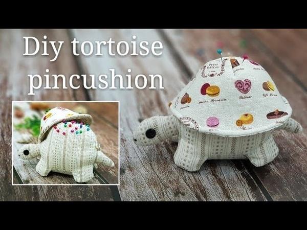 Diy tortoise pincushion | FREE template for DOWNLOAD【乌龟针插教学】HandyMum❤❤