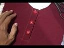 Tutorial membuat bukaan kancing baju gamis