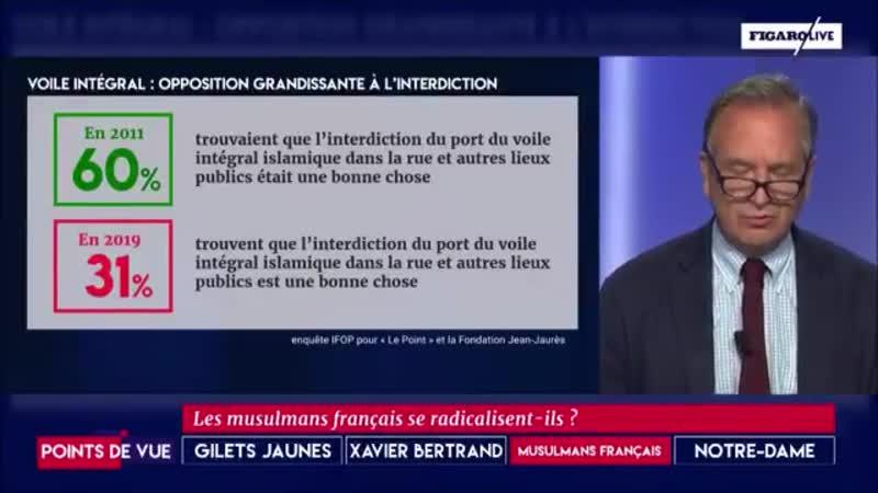 France 2019 : 27% des musulmans pour la charia