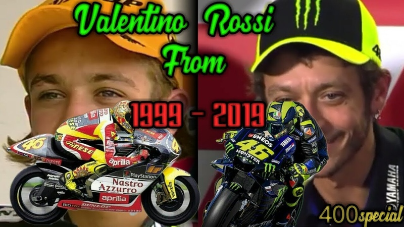 Valentino Rossi From 1999 To 2019 Complications Spesial 400 GP Start
