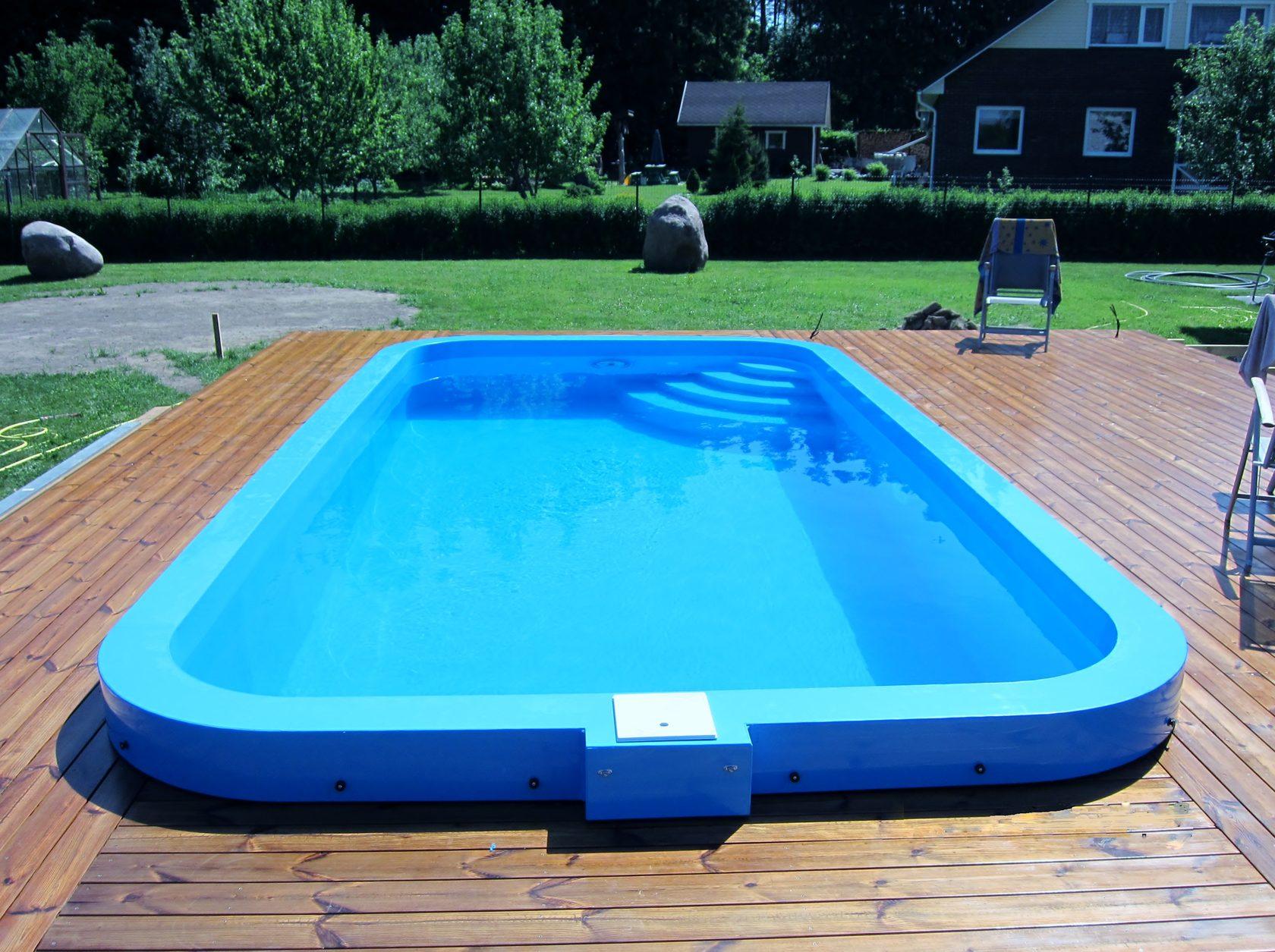Как выглядит бассейн из полипропилена?