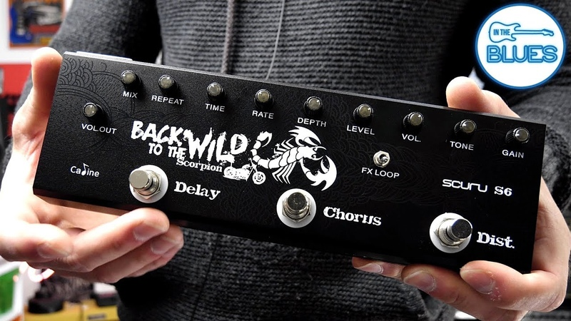 Caline Back to the Wild 3 in 1 Pedal - DistortionChorusDelay (Scuru S6)