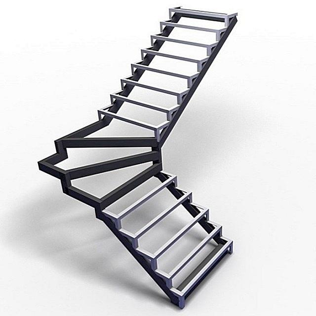 Лестница из профильной трубы своими руками: чертежи и пошаговый монтаж, изображение №6