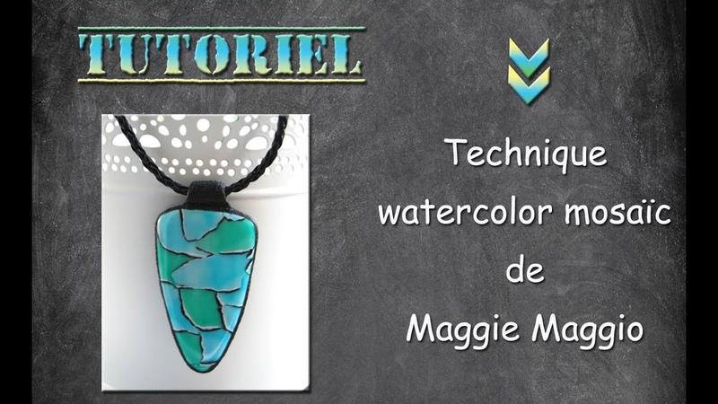 Tuto fimo/polymère watercolor mosaic petite astuce.