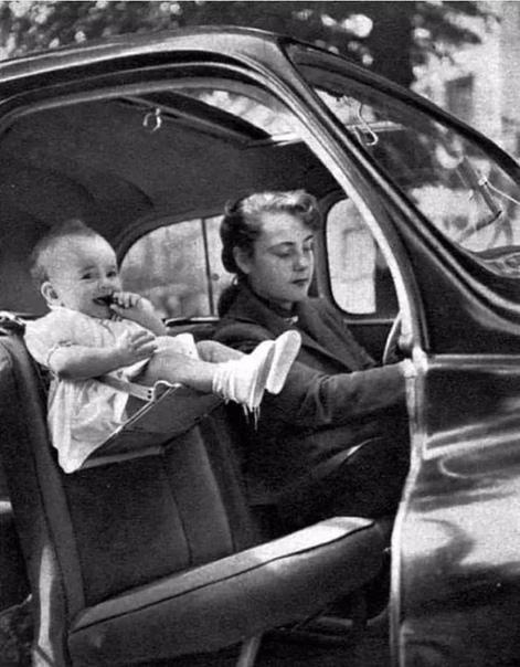 Детское автокресло в середине 20 века