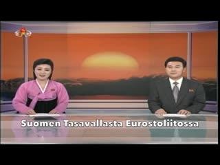 Pohjois-korean tv kertoo suomen tilanteesta