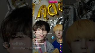 2020 05 07 Birthday Instagram live | Kim Jungwoo & Lee Sejin