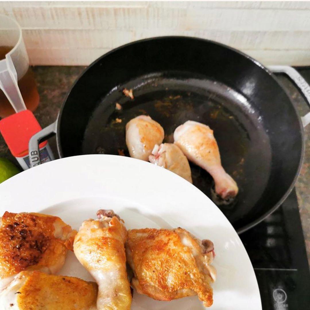 Курица с баклажаном