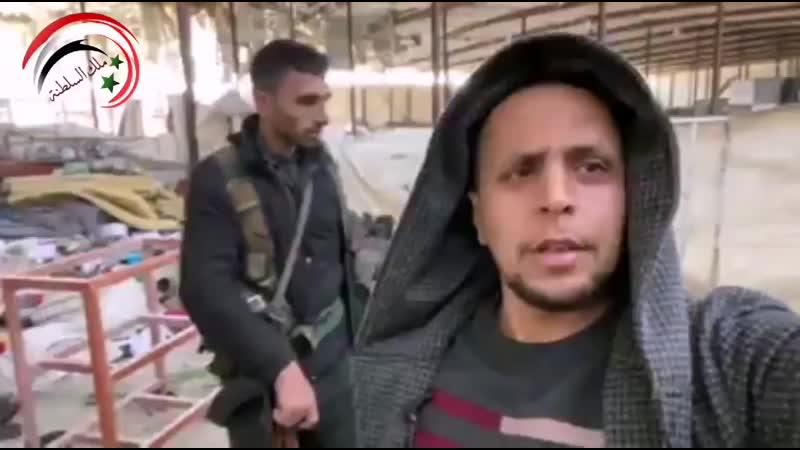 تقرير مفصل من صهيب المصري العثور على معسكر تدريب للعصابات الإرهابية المسلحة في قرية كفرجوم بريف حلب الغربي