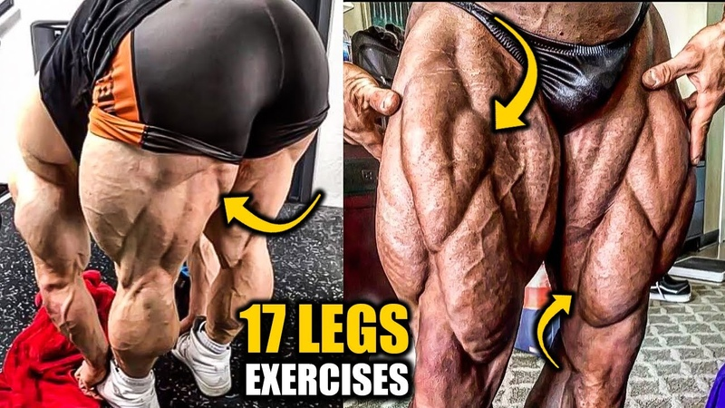 17 LEGS EXERCISES TO BUILD RIDICULOUS MUSCLE SIZE💪