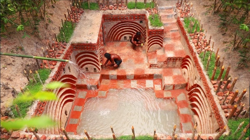 Build The Greatness Underground Ancient Skills Wall Beautiful Swimming Pool