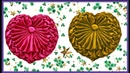 Heart shape Cushion smocking pattern design pillow cover making in hindi at home cojin capiton