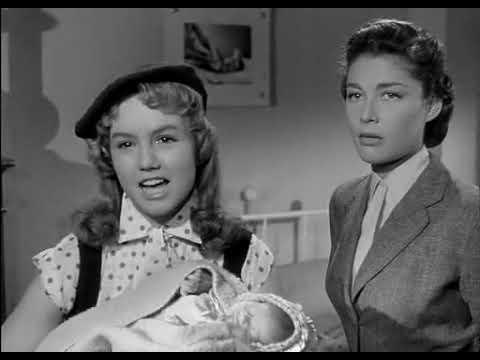 Marie Hélène Demongeot dans son premier film Les enfants de l'amour 1953