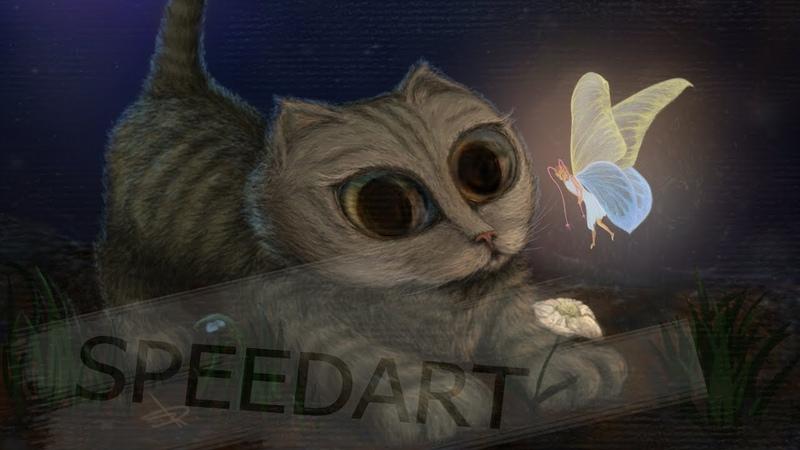 SPEEDPAINT Kitten Fairy batterfly