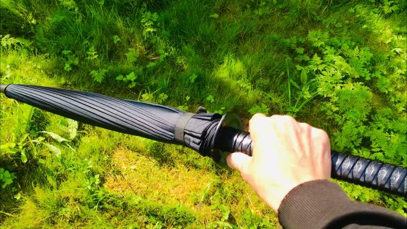 Зачётный и оригинальный подарок себе и своим близким Зонтик в виде Катана Самурайского меча Ката́на яп 刀 ⚔️🗡🌂☂️
