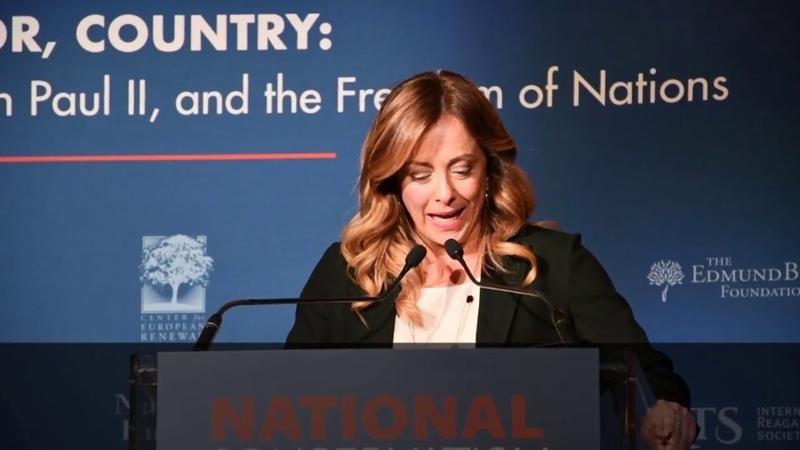 L'intervento integrale di Giorgia Meloni al National Conservatism Conference Collegatevi