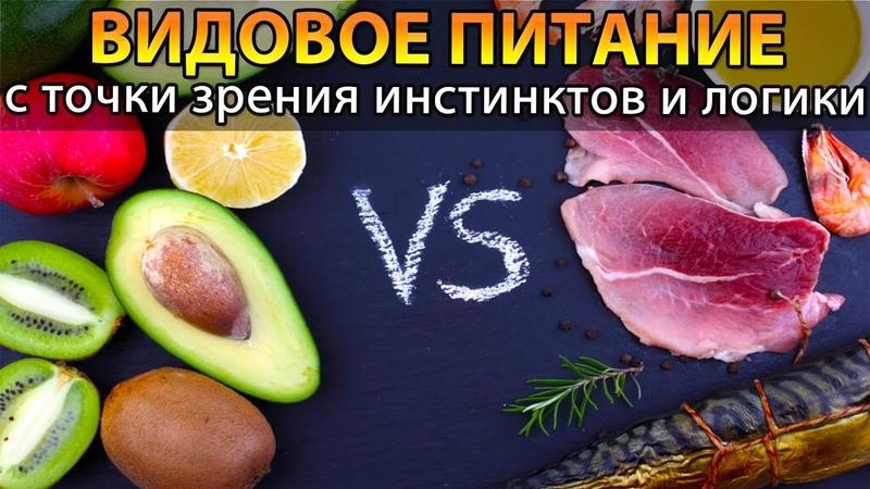 🍏 Видовое питание человека с точки зрения инстинктов и логики видовая пища