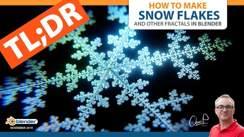❄ SNOW FLAKES in Blender in 60 Seconds ❄
