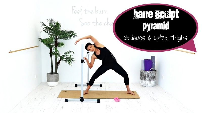 Ballet Barre Workout Abs Legs BARLATES BODY BLITZ Barre Sculpt Pyramid Obliques and Outer Thighs
