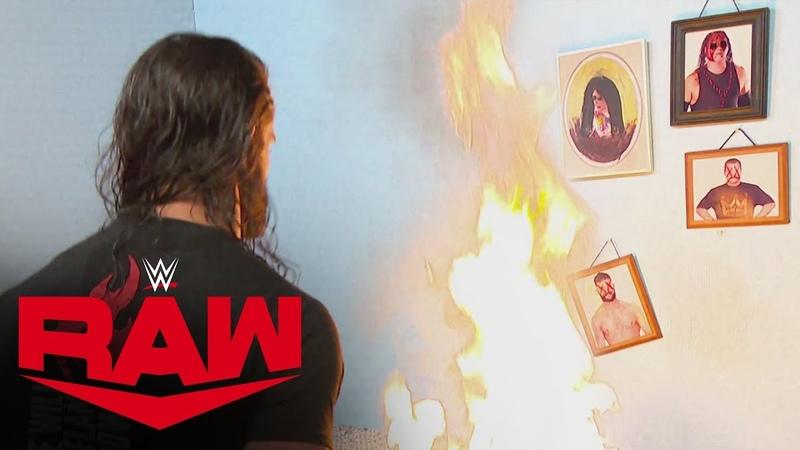 "Seth Rollins goes berserk, destroying Firefly Fun House"": Raw, Oct. 14, 2019"