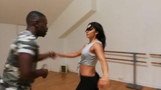 Leon Rose and Vanessa Diaz social dancing