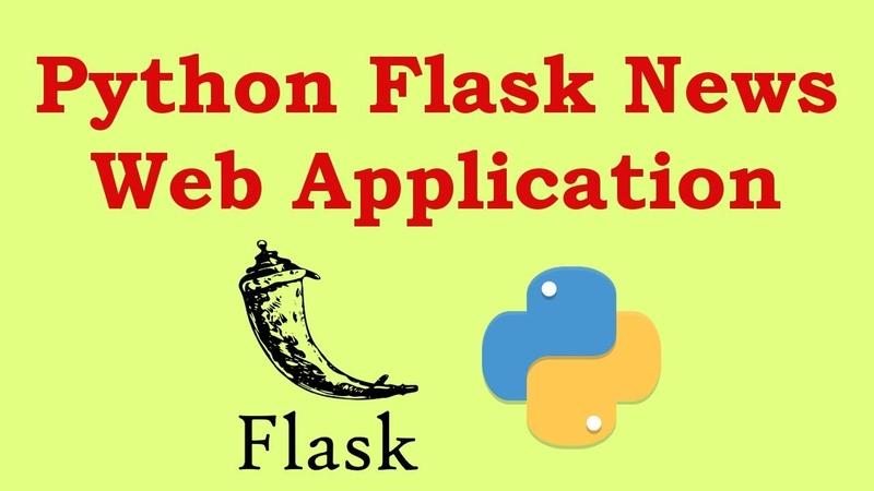 Python Flask Create News Web Application With News API