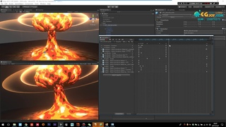 Unity stylized nuclear explosion